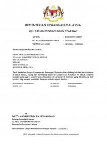 MoF Registration